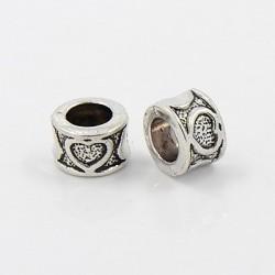 Antik Silber tibetischen Stil European Beads Herz
