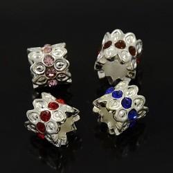 Antik Silber tibetischen Stil European Beads Strass